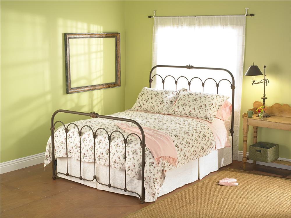 Wesley Allen Iron Beds Full Hillsboro Iron Headboard And Footboard Bed