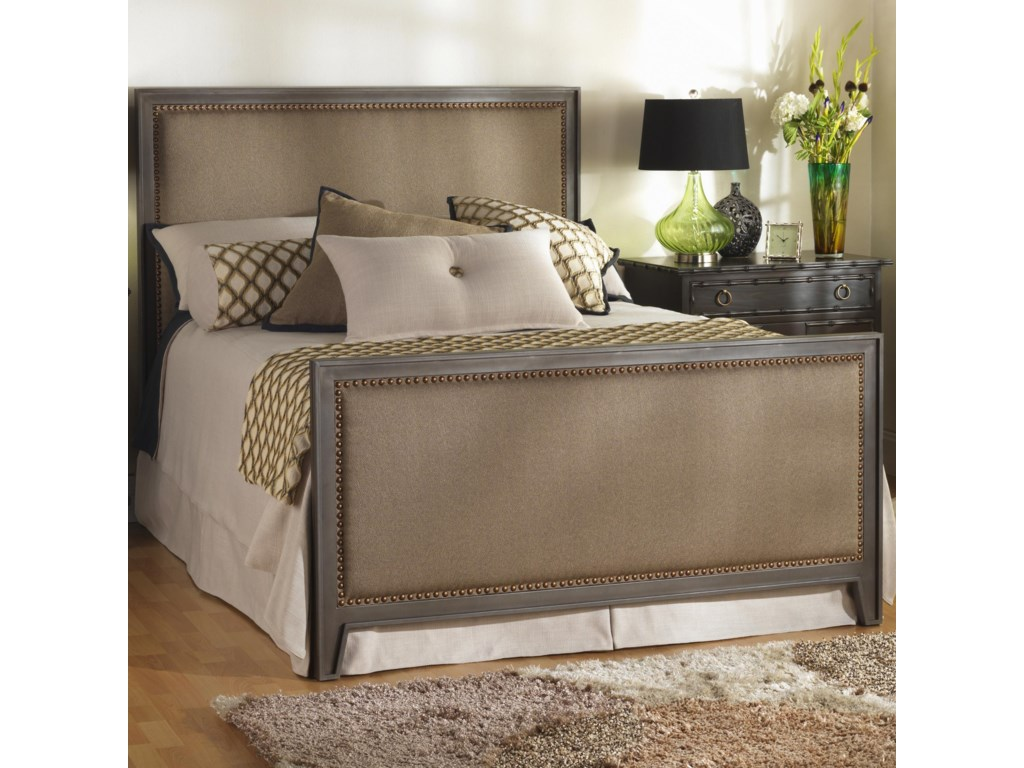 Wesley Allen Iron BedsQueen Avery Iron and Upholstered Bed