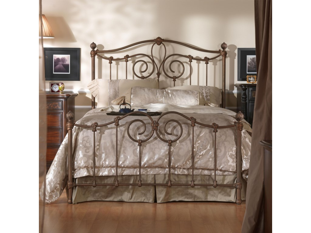 more photos 24a1a 9ddf5 Wesley Allen Iron Beds CB7165Q Queen Olympia Metal Bed ...