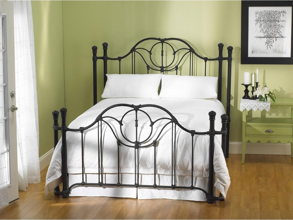 Morris Home Furnishings Iron BedsKing Kenwick Poster Bed