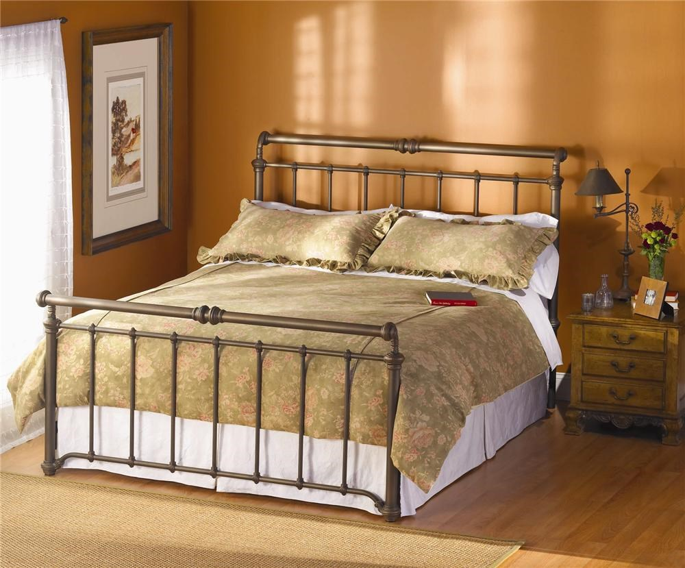 - Wesley Allen Iron Beds Sheffield Iron Sleigh Bed Wayside