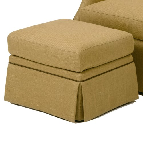 Wesley Hall Accent Chairs and Ottomans Ottoman with Skirted Base