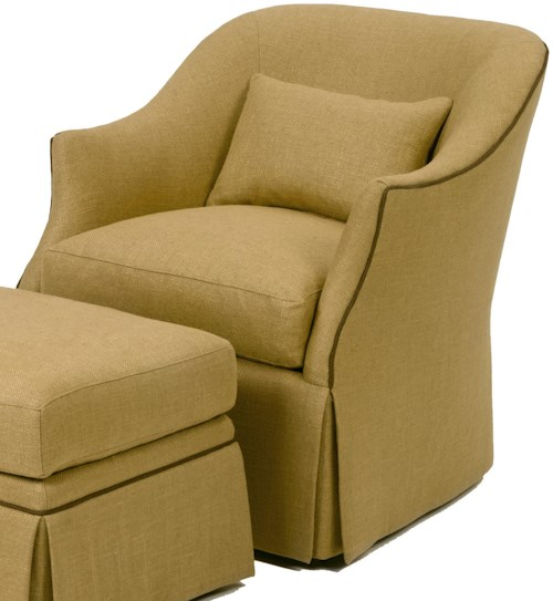 Wesley Hall Accent Chairs and Ottomans Upholstered Chair with Skirted Base