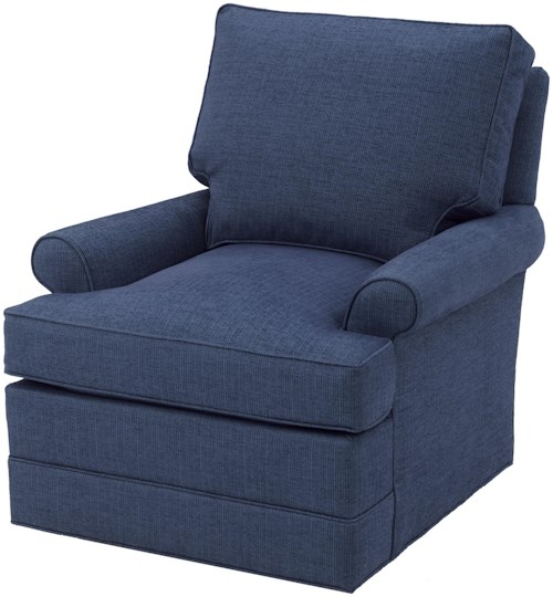 Wesley Hall Accent Chairs and Ottomans Casual Swivel Glider Chair