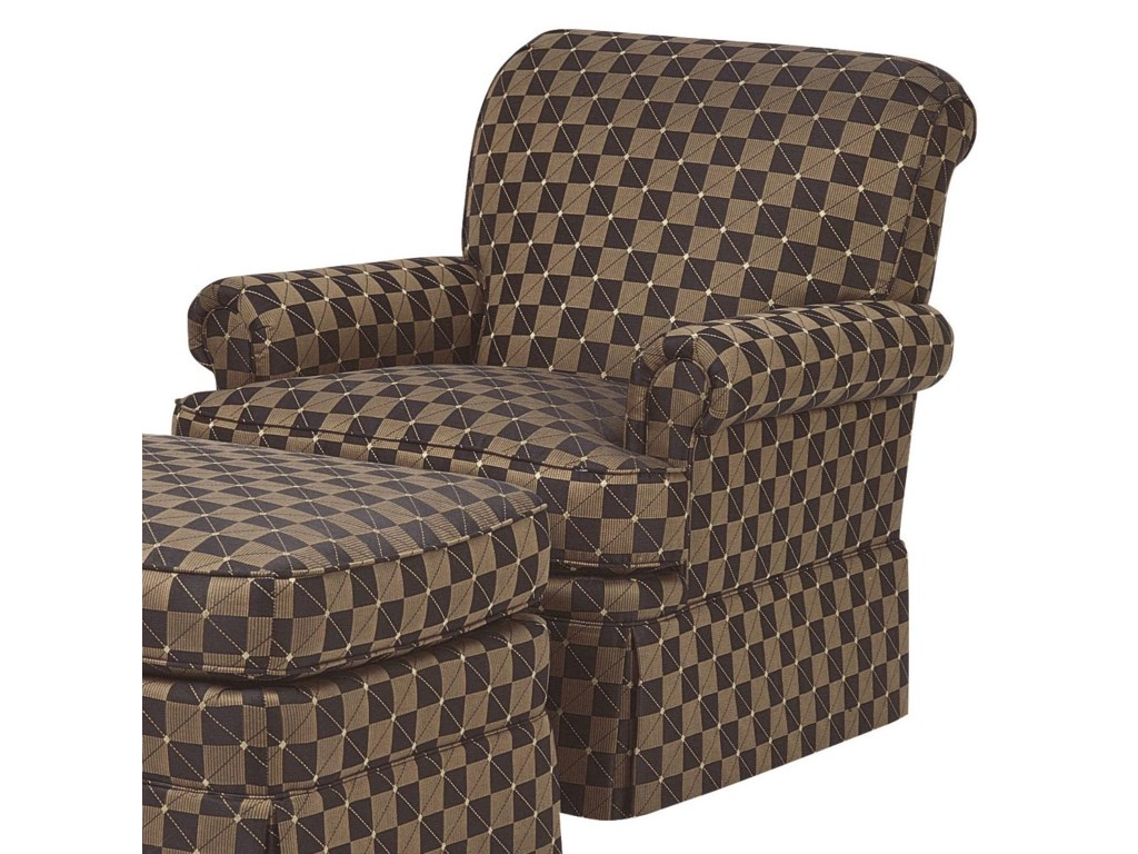 Wesley Hall Accent Chairs and OttomansEmpire Skirt Chair