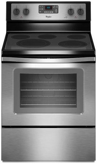 Whirlpool Electric Ranges 5.3 Cu. Ft. Freestanding Electric Range with High-Heat Self-Cleaning System