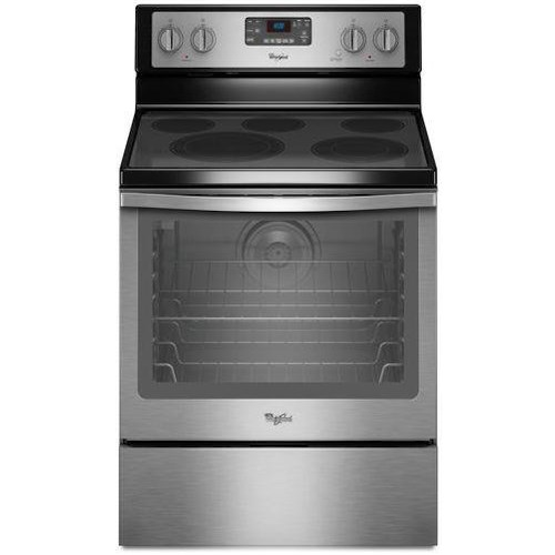 Whirlpool Electric Ranges 6.4 Cu. Ft. Freestanding Electric Range with AquaLift® Self-Cleaning Technology