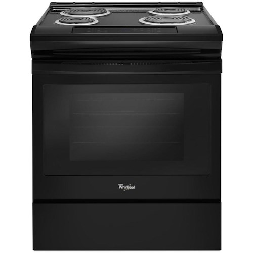 Whirlpool Electric Ranges 4 8 Cu Ft Coil Range With Guided Cooktop Controls