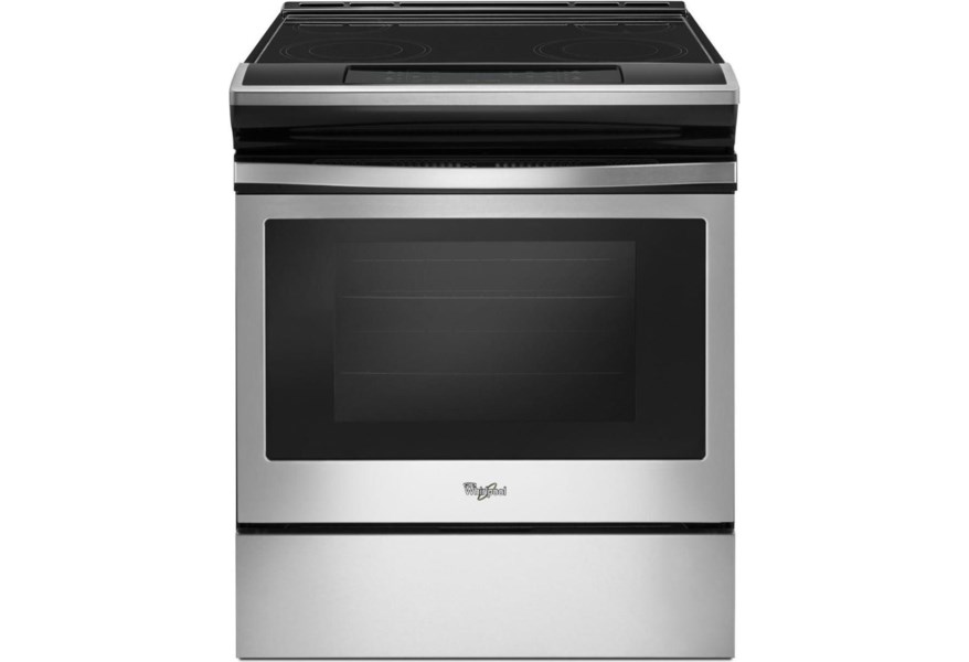 electric ranges 4 8 cu ft electric range with guided cooktop controls by whirlpool at furniture fair north carolina