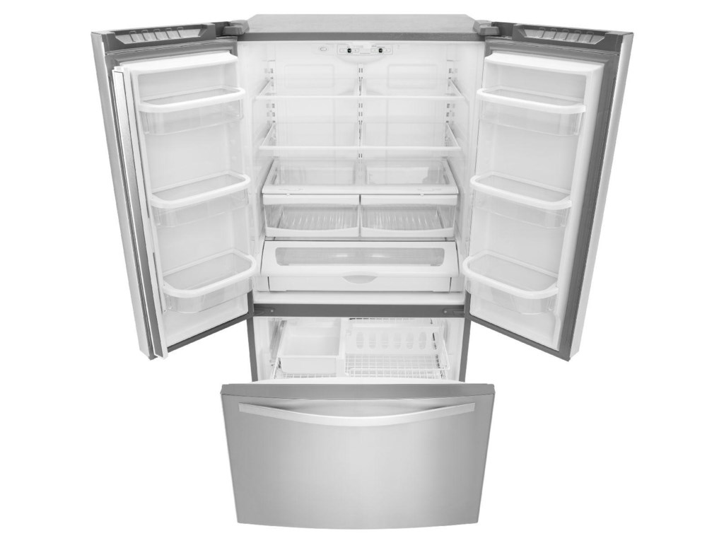 Whirlpool WRF535SWBM25 cu. ft. French Door Refrigerator with ...