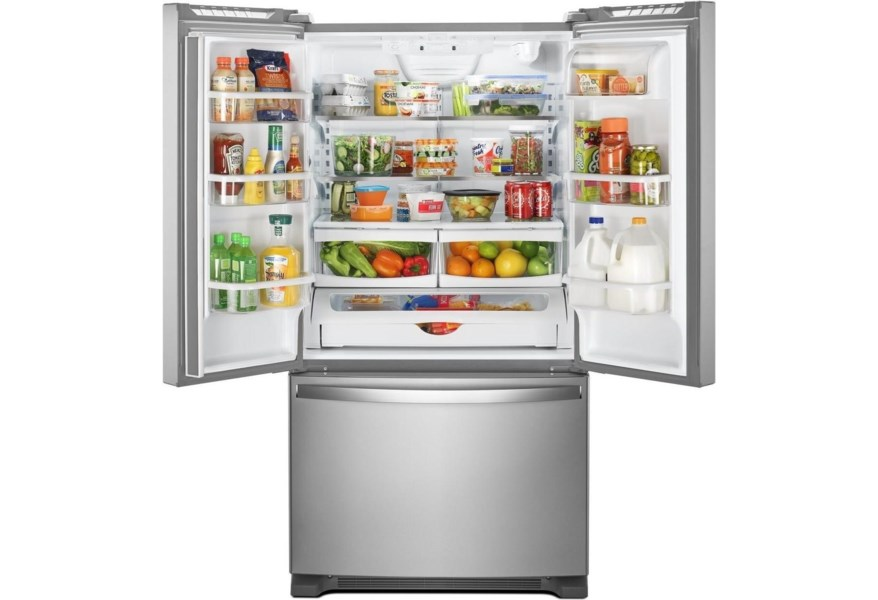 Whirlpool Wrf540cwhz 36 Inch Wide Counter Depth French Door Refrigerator 20 Cu Ft Furniture And Appliancemart Refrigerator French Door