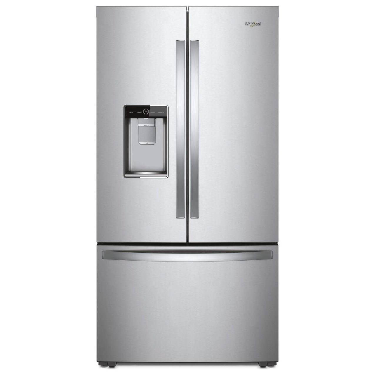 Whirlpool French Door Refrigerators 36 Inch Wide Counter Depth French Door  Refrigerator   24 Cu