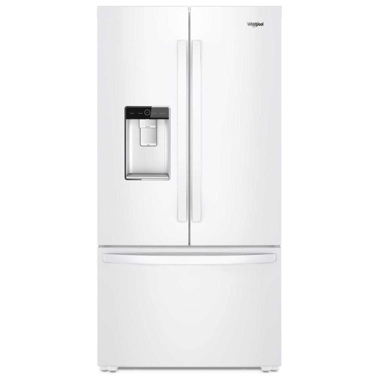 Whirlpool French Door Refrigerators 36 Inch Wide Counter Depth French Door  Refrigerator   24 Cu