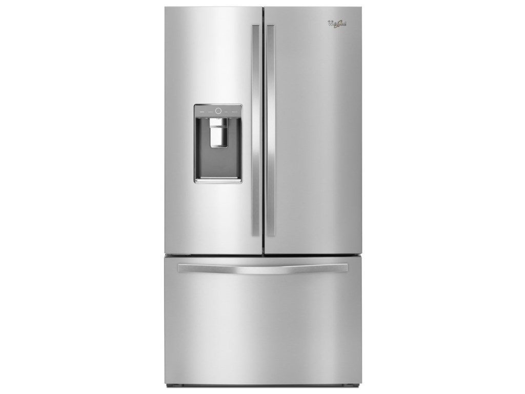 refrigerators ft makers ice double french drawer with dual refrigerator door whirlpool cu freezer bottom