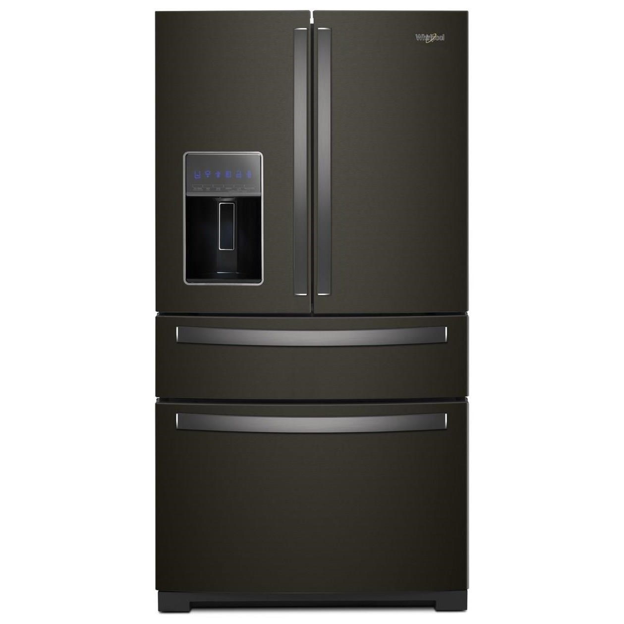 Whirlpool French Door Refrigerators 36 Inch Wide 4 Door Refrigerator With  Exterior Drawer