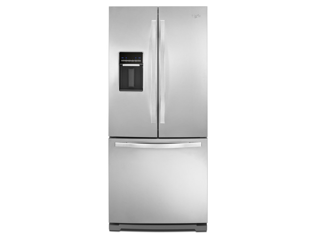 Whirlpool wrf560seym196 cu ft french door refrigerator with ft french door refrigerator with exterior dispenser furniture and appliancemart refrigerator french door rubansaba