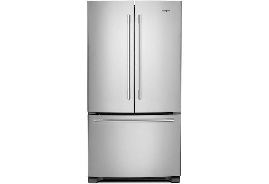 Whirlpool Energy Star 25 Cu Ft French Door Refrigerator With Crisper Drawer Westrich Furniture Appliances Refrigerator French Door