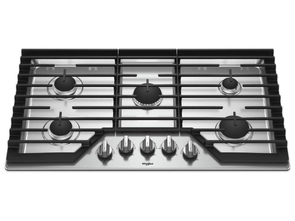 36 Inch Gas Cooktop With Griddle By Whirlpool Cooktops Collection