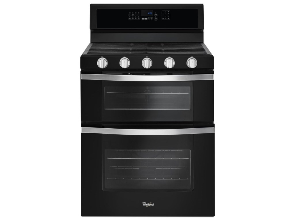Whirlpool 60 Cu Ft Gas Double Oven Range With Center Oval Burner