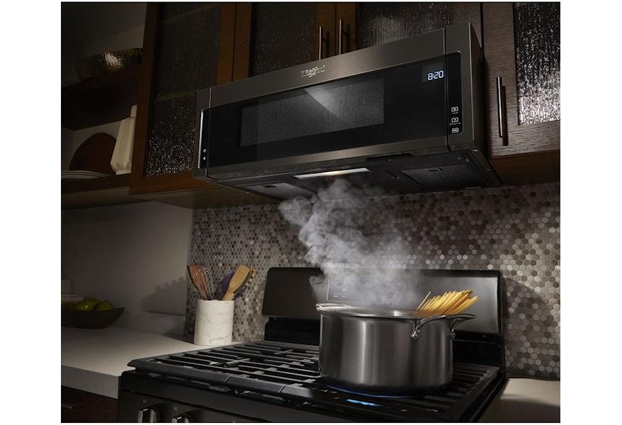 Low profile microwave hood