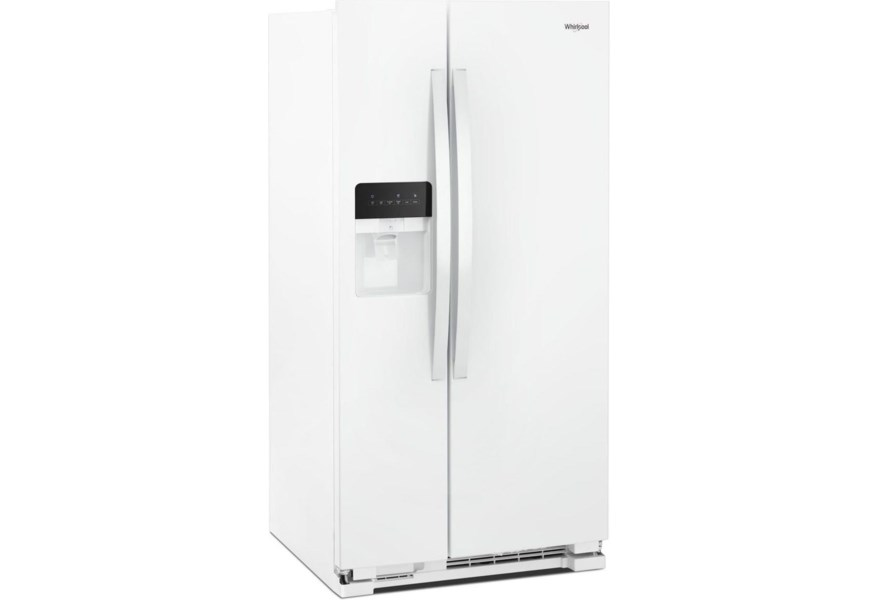 Whirlpool Wrs315sdhw 36 Inch Wide Side By Side Refrigerator 25 Cu Ft Furniture And Appliancemart Refrigerator Side X Side With Dispenser