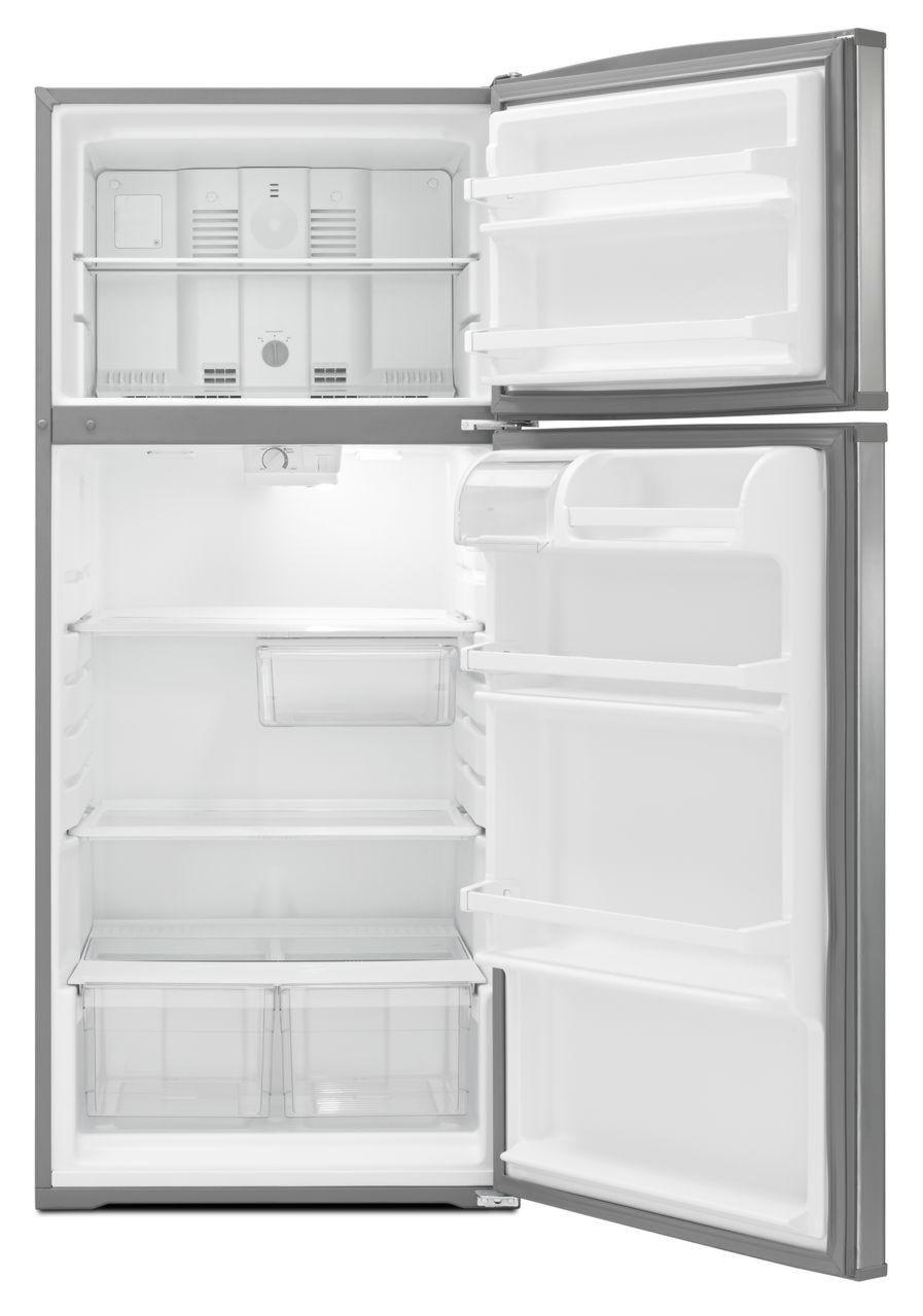 whirlpool refrigerator top freezer. shown in: whirlpool top mount refrigerators 16 cu. ft. top-freezer refrigerator with flexi-slide™ bin freezer c