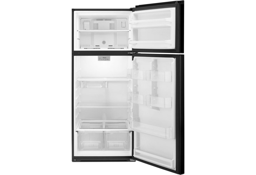 Whirlpool Wrt518szfb 28 Inch Wide Whirlpool Refrigerator Compatible With The Ez Connect Icemaker Kit 18 Cu Ft Furniture And Appliancemart Refrigerator Top Freezer