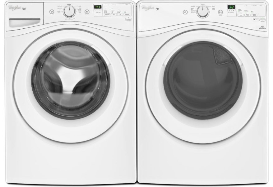 Whirlpool 4 2 Cu Ft Duet He Front Load Washer And 7 3 Cu Ft Electric Dryer Wilcox Furniture Washer Dryer Combo