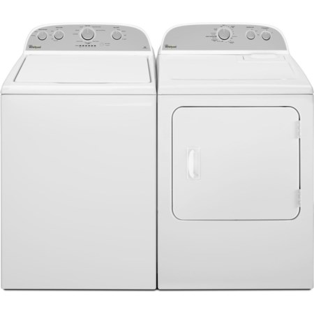 Top Load Washer and Front Load Dryer Set