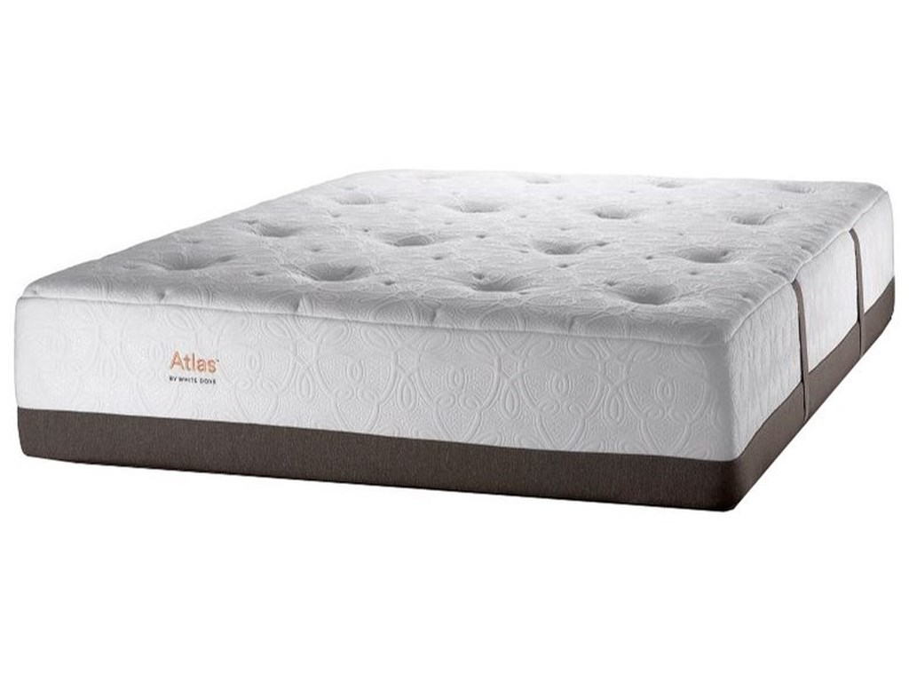 White Dove Mattress Atlas 4200Twin XL Plush Pocketed Coil Mattress
