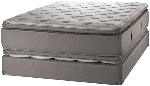 White Dove Mattress Duality Hotel Summit Pillow Top Queen Two Sided Pillow Top Mattress and 18 Slat Amish Wood Foundation