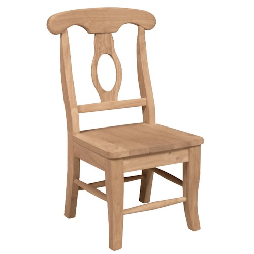 Whitewood Juvenile Child's Empire Chair with Splat Back