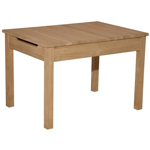 Whitewood Juvenile Simple Kid's Lift Top Table with Storage