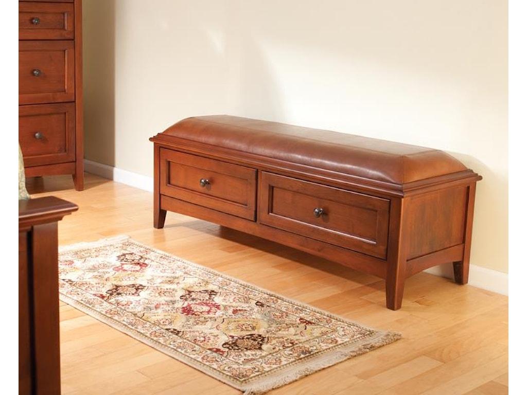 Whittier Wood McKenzie2-Drawer Storage Bench