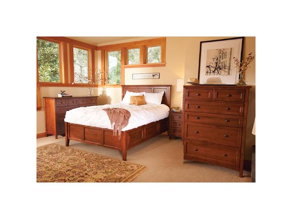 Whittier Wood McKenzie4 Piece Queen Bedroom Set