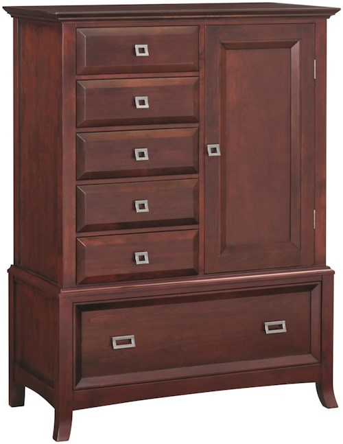 Whittier Wood Cascade  1-Door Chest with 2 Adjustable Shelves