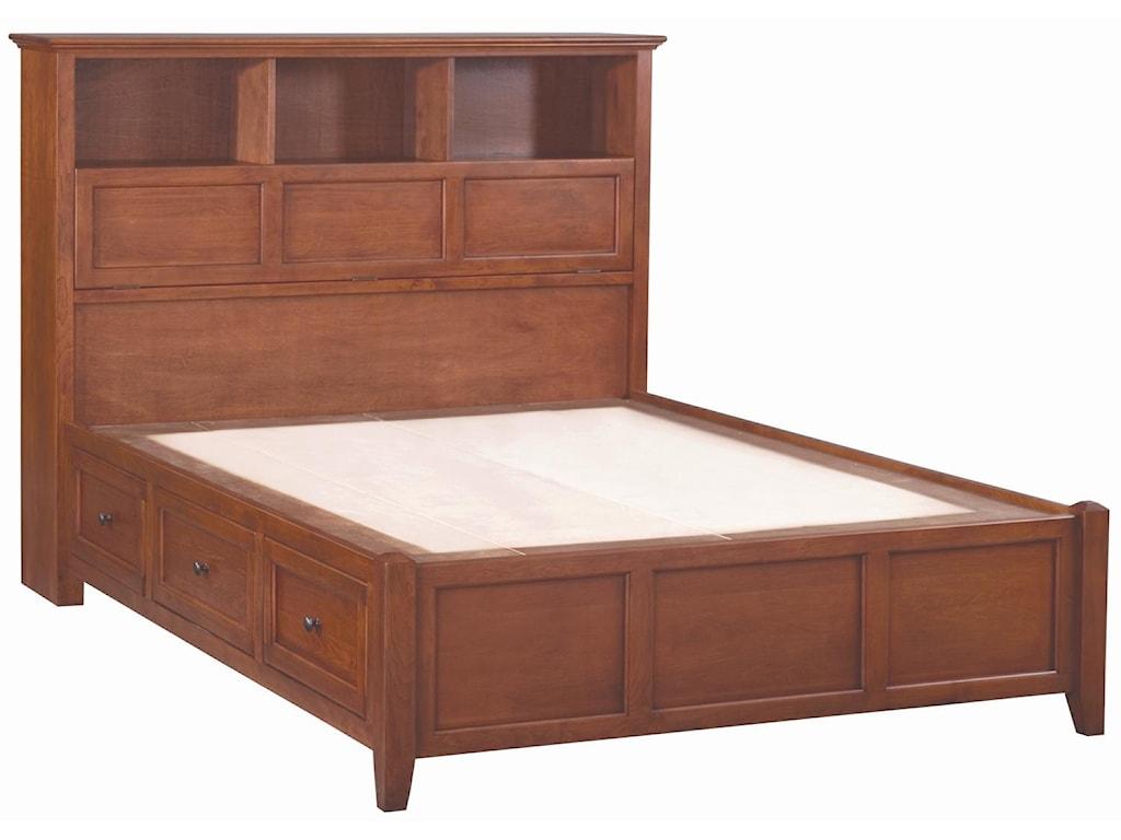 Whittier Wood McKenzieQueen Bookcase Storage Bed