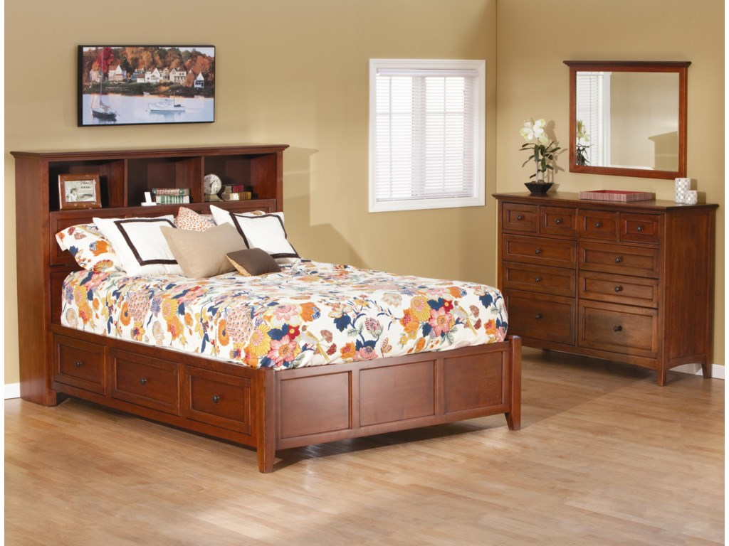 Whittier Wood McKenzieQueen Bookcase Storage Bed