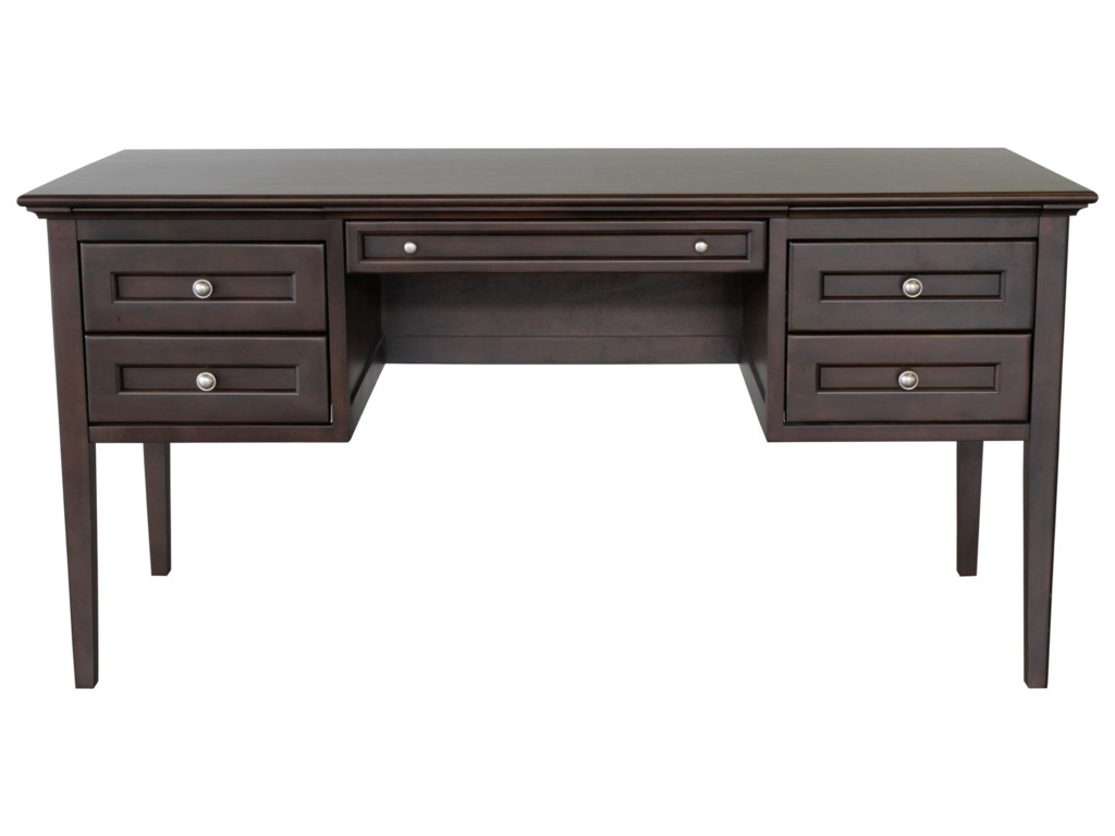 Whittier Wood McKenzie4-Drawer Desk