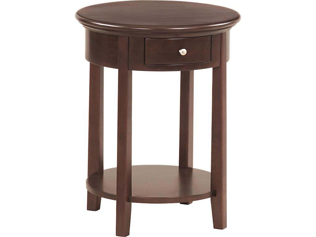 Whittier Wood McKenzieRound Side Table