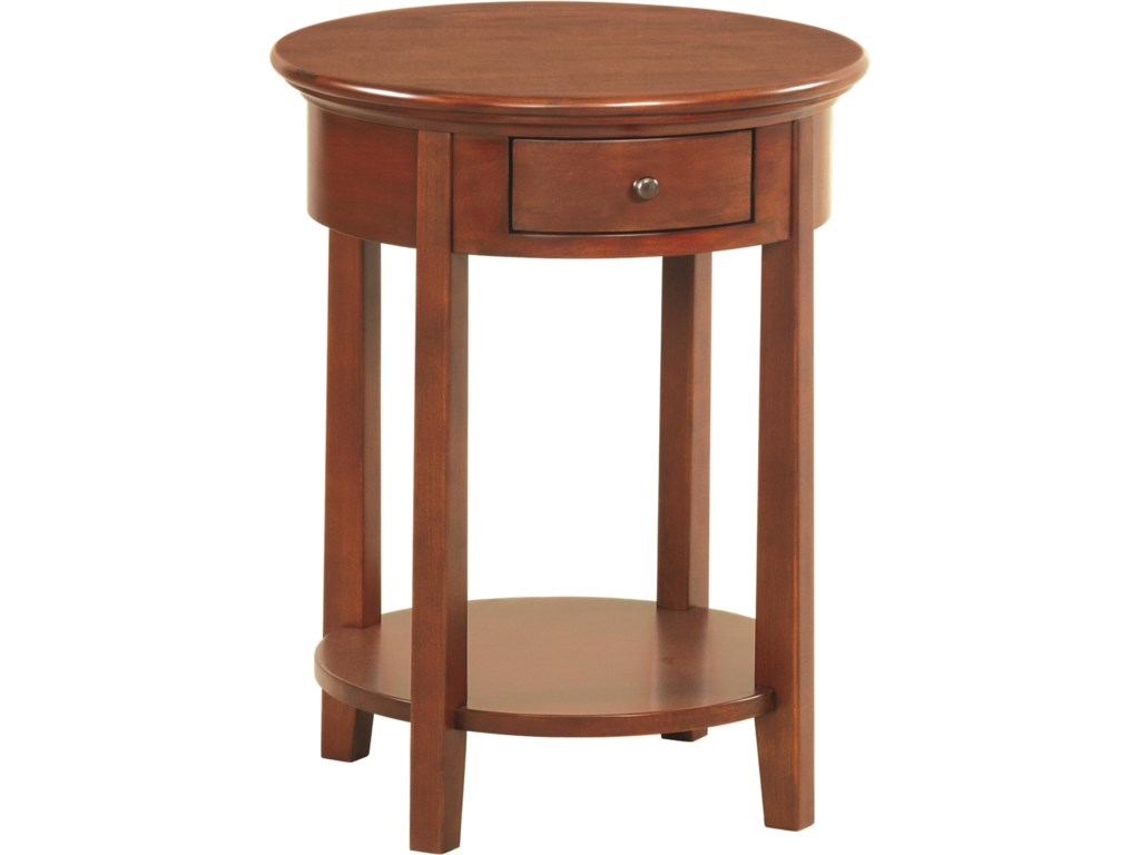 Whittier Wood McKenzieRound Side Table