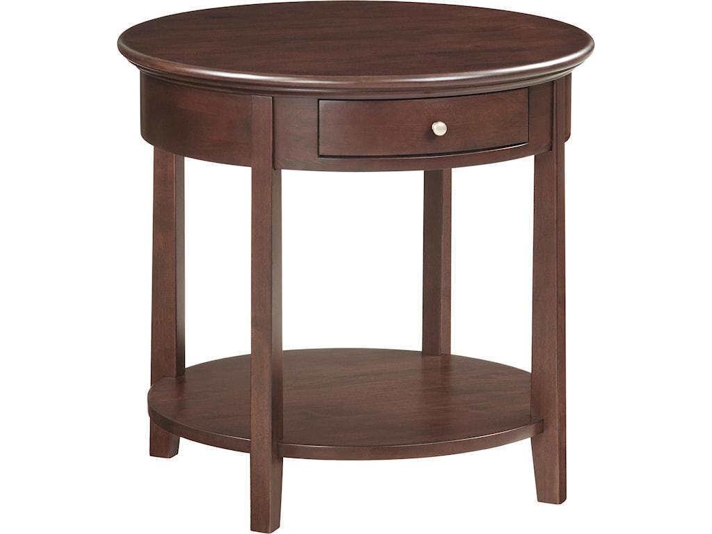 Whittier Wood McKenzieRound End Table