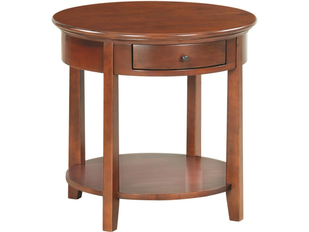 Whittier Wood McKenzieRound End Table