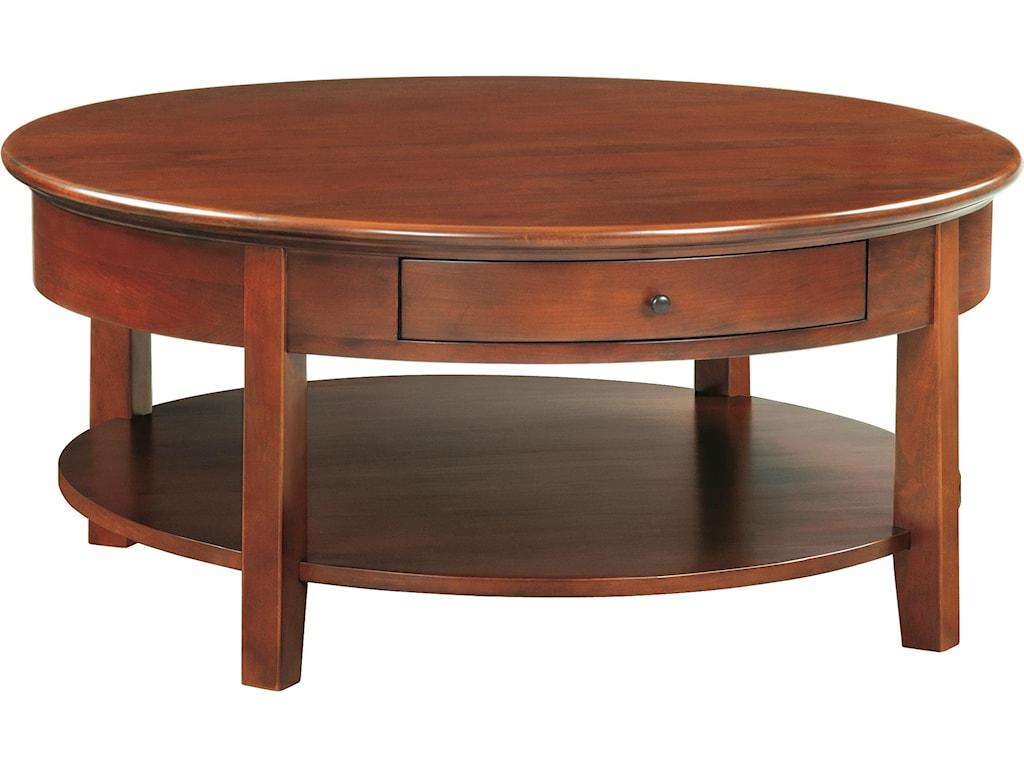 Whittier Wood McKenzieRound Cocktail Table