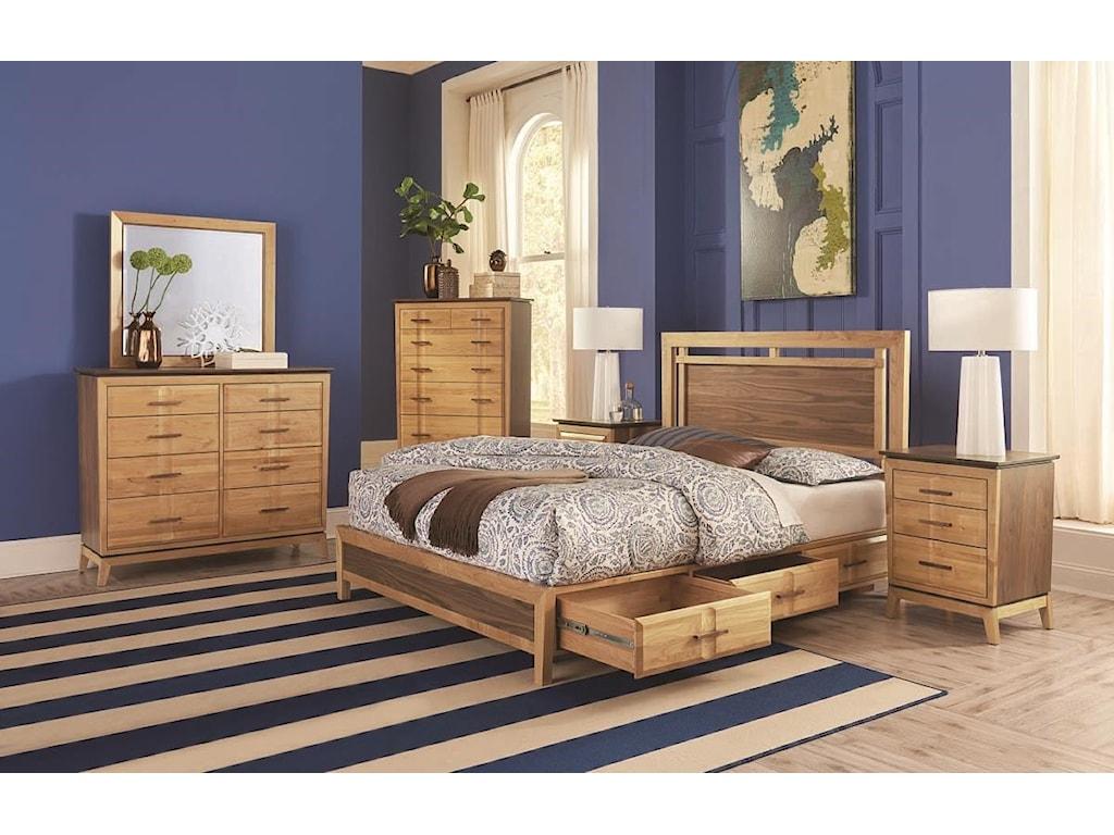 Whittier Wood AddisonQueen Panel Storage Bed