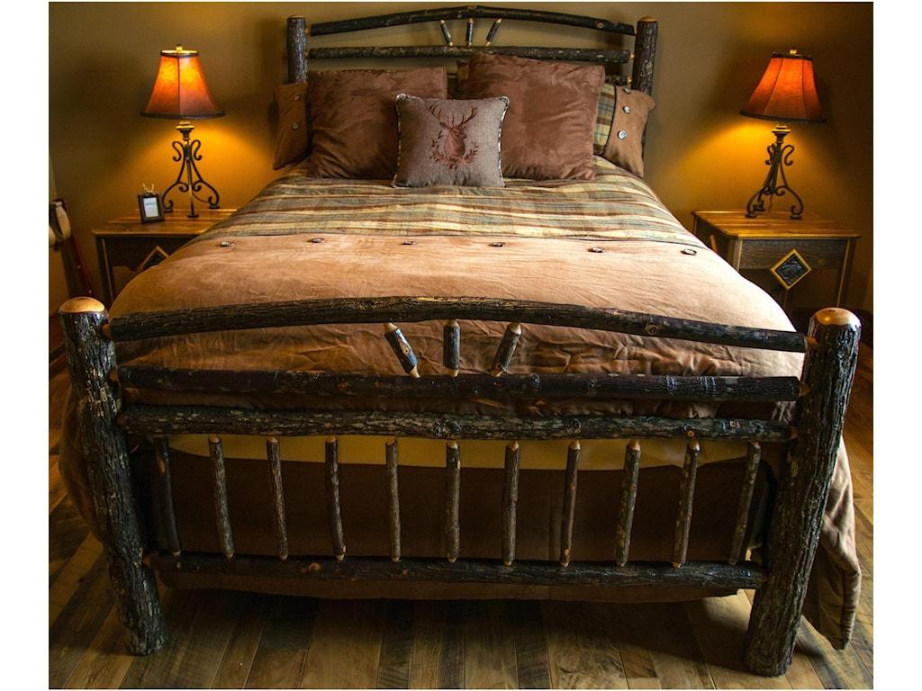 Wildwoods Barnwood Hickory BedroomQueen Wagon Wheel Bed