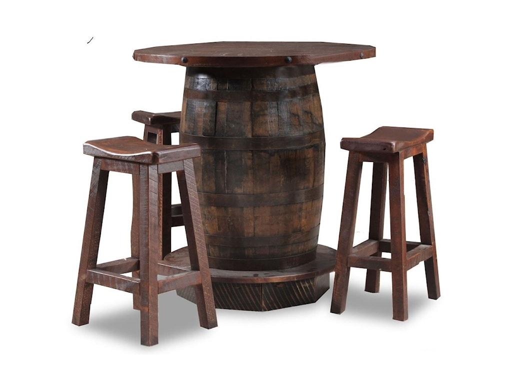 Wildwoods Reclaimed Whiskey Barrel Reclaimed Circle Sawn Pine Saddle Barstool