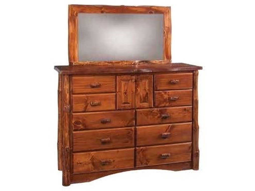 Wayside Custom Furniture Legacy Log10 Drawer Mule Dresser