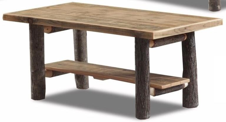 Wayside Custom Furniture Hickory Standard Coffee Table With 1 Open Bottom  Shelf