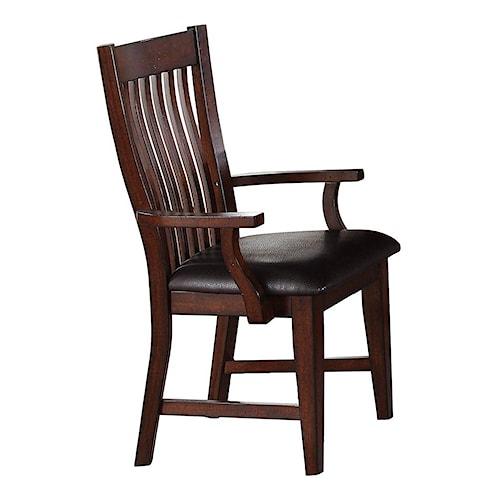 Winners Only Regis Slat Back Arm Chair